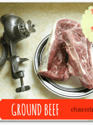 Ground Beef {Make It Myself Monday}