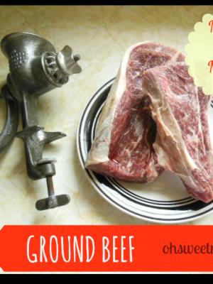 Ground Beef {Make It Myself Monday}