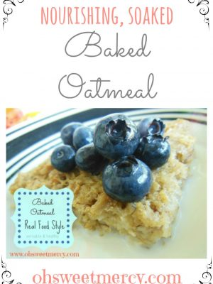 Baked Soaked Oatmeal: Healthy and Versatile!