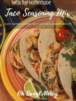 Make this easy, healthy Homemade Taco Seasoning mix with no funky ingredients. Save money, too!
