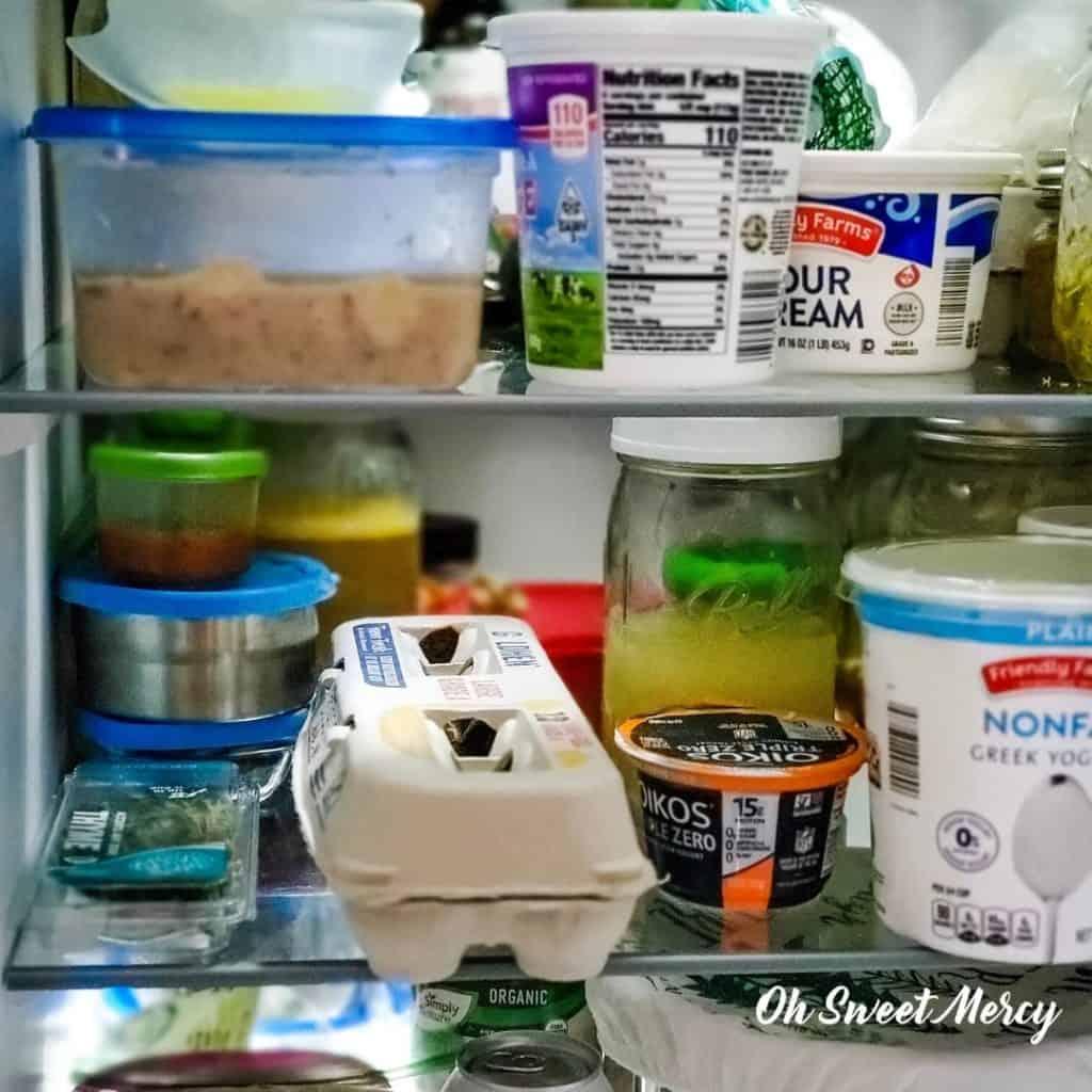 Inside my refrigerator