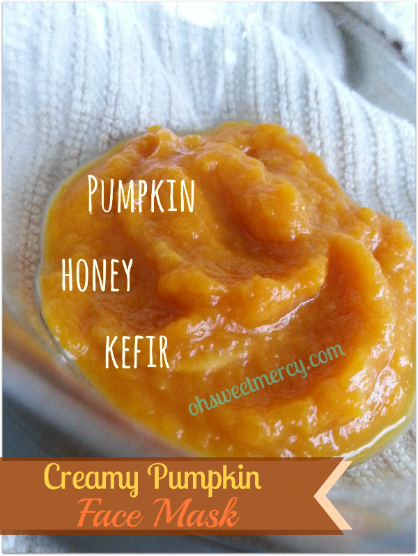 Creamy Pumpkin Face Mask - 3 Ingredients, Easy, Healthy and Frugal!