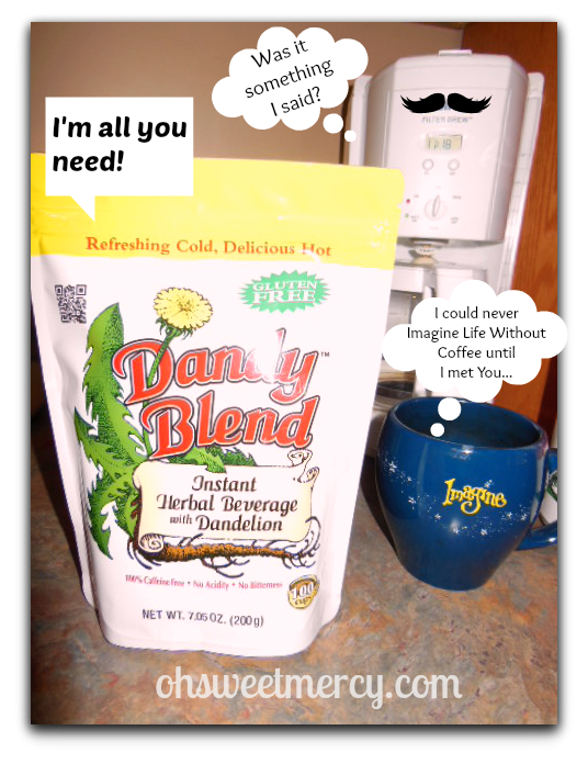 dandy blend and coffee pot