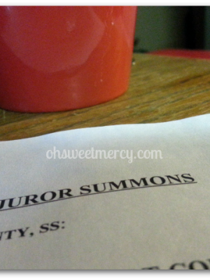 Jury Service…it's Your Duty {Just My Opinion}