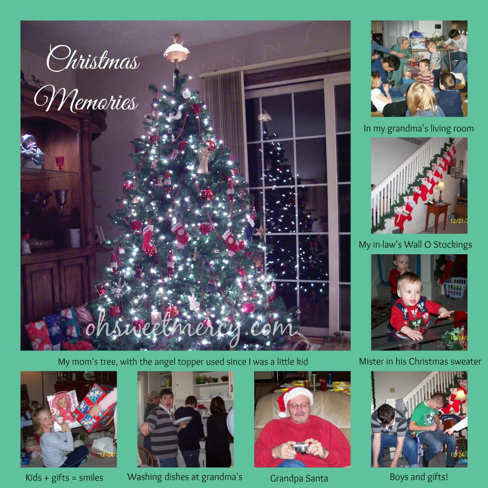 A sampling of Christmas memories from our family