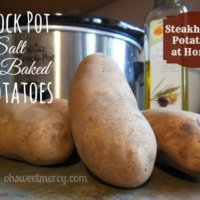 Crock Pot Salt Baked Potatoes