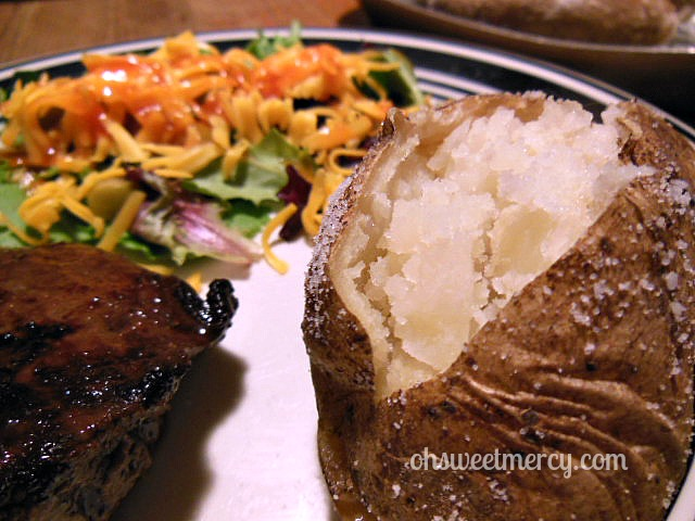 Crock Pot Salt Baked Potatoes plate