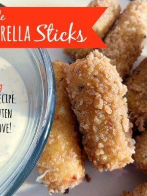 Homemade Mozzarella Cheese Sticks {Make it Myself Monday}
