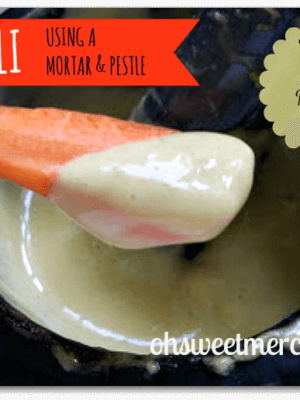 Aioli Made the Traditional Way {Make it Myself Monday}