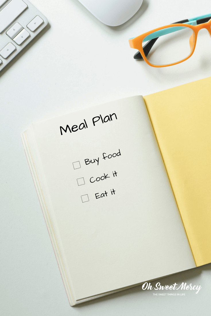 Meal Planning doesn't have to be complicated. Give this easy Post It Note Meal Plan method a try! #thm #mealplanning
