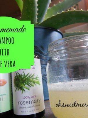Homemade Shampoo with Aloe Vera {Make it Myself Monday}