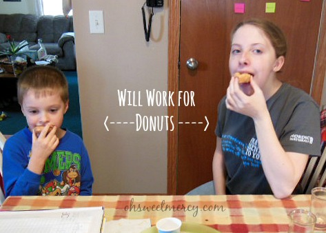 will work for donuts