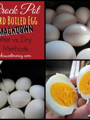 Crock Pot Hard Boiled Eggs: Smackdown