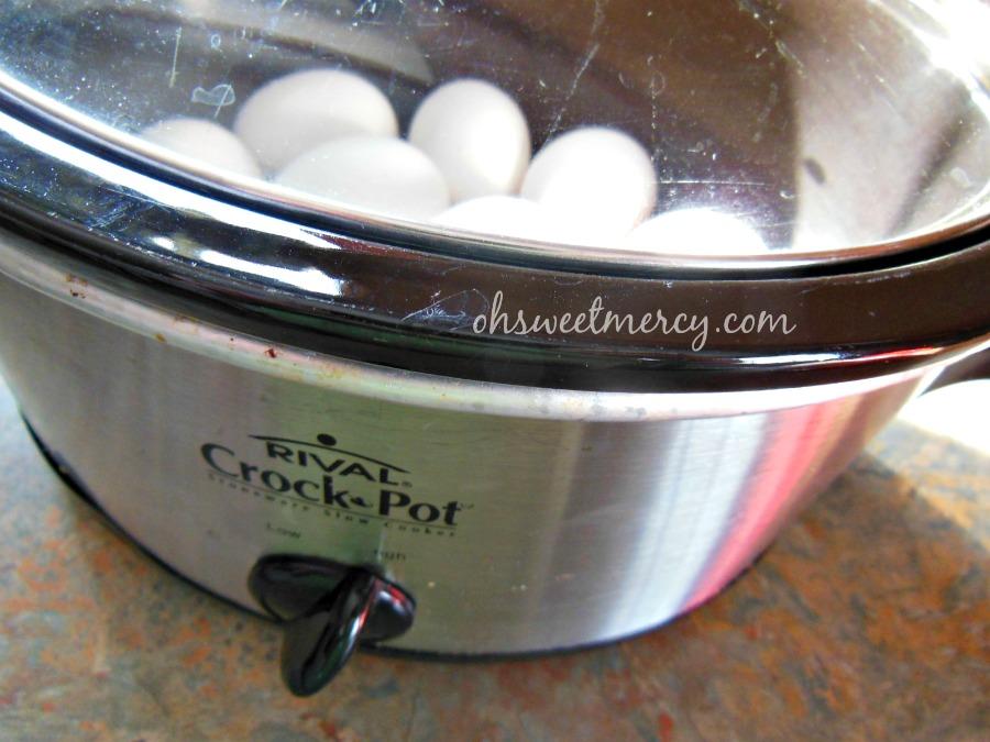 crock pot eggs
