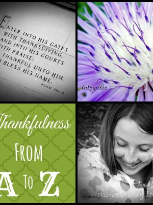 Thankful Thursdays –  The E List
