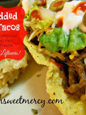 Shredded Beef Tacos {Leftover Love}