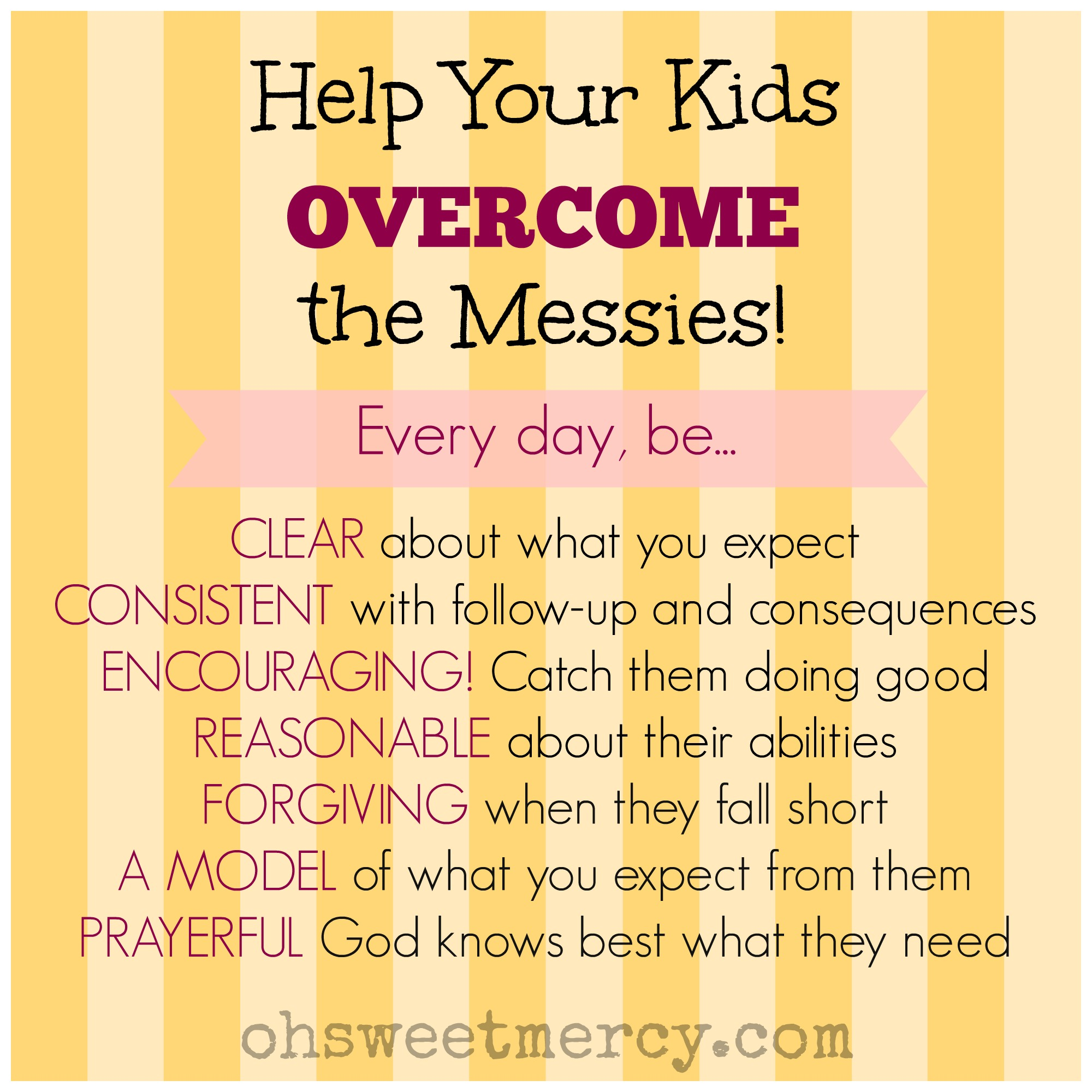 Help your kids overcome the messies