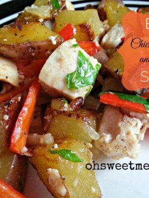 Easy Chicken, Potato and Pepper Skillet