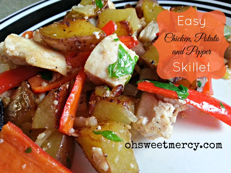 Chicken Potato Pepper Skillet