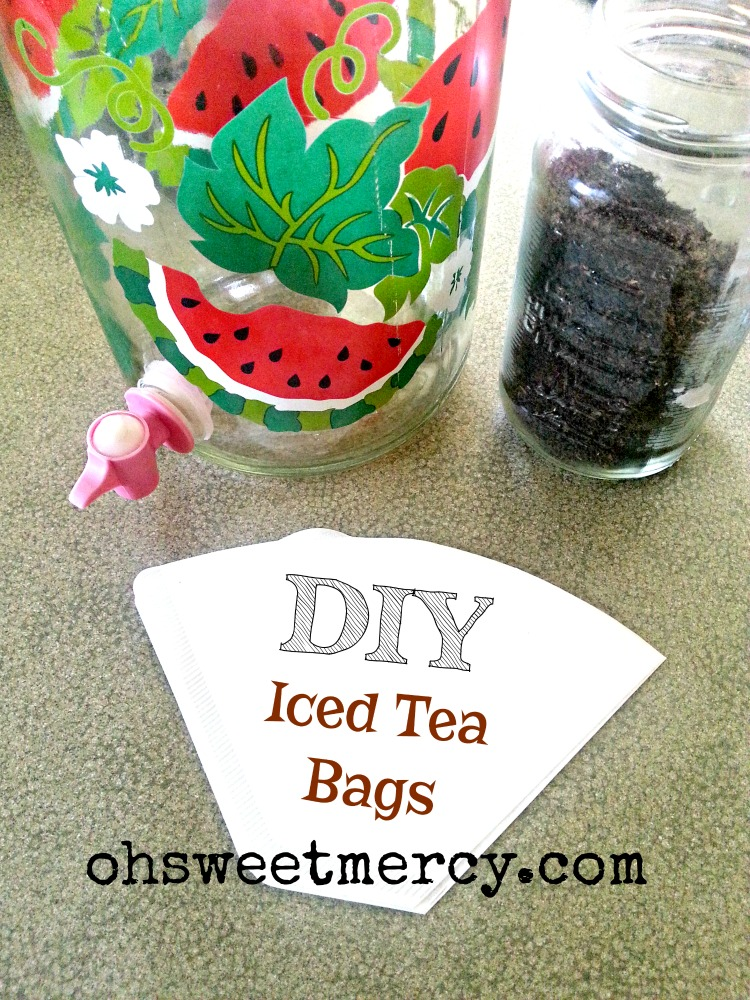 DIY Iced Tea Bags | Oh Sweet Mercy #diy #moneysaving #summer #tips #thm