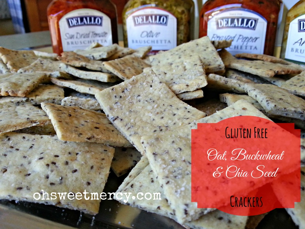 Gluten Free Oat, Buckwheat and Chia Seed Crackers