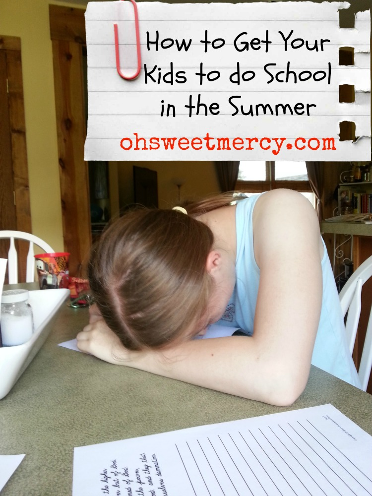 How to Get Your Kids to do School in the Summer