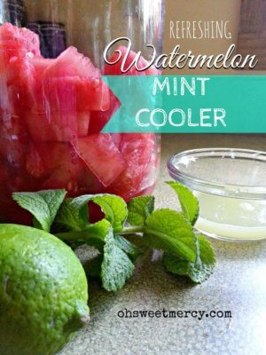 Refreshing 3 Ingredient Watermelon Mint Cooler