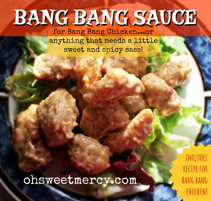 Bang Bang Sauce with Bang Bang Chicken Recipe | Oh Sweet Mercy