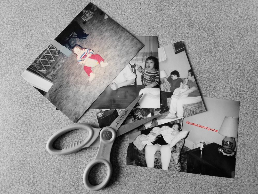 Blended Family Pictures and Scissors