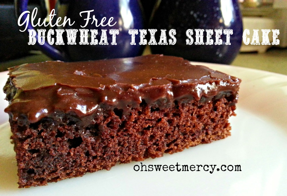 Gluten Free Buckwheat Texas Sheet Cake
