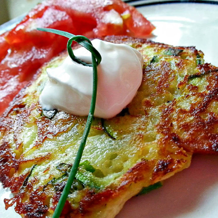 Low Carb Zucchini Fritters are an easy and delicious way to use up that zucchini! THM friendly with grain-free option.