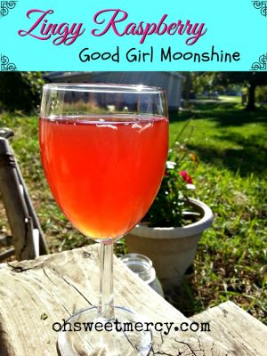 Zingy Raspberry Good Girl Moonshine