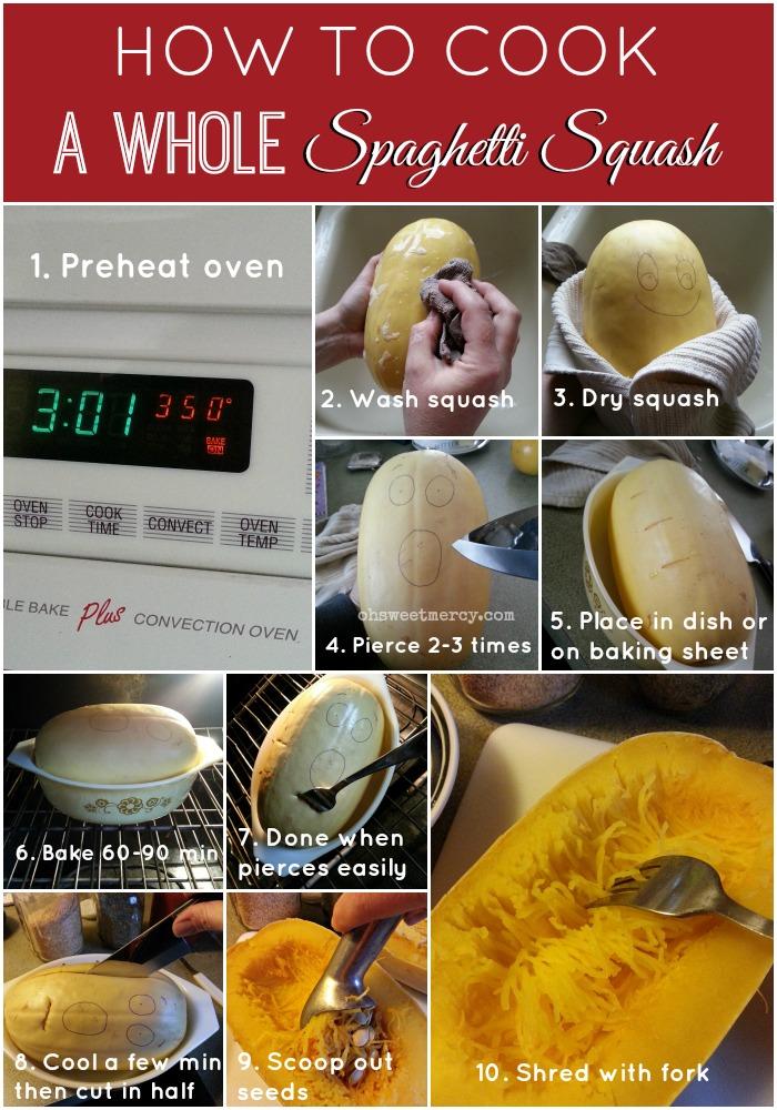 How to Cook a Whole Spaghetti Squash
