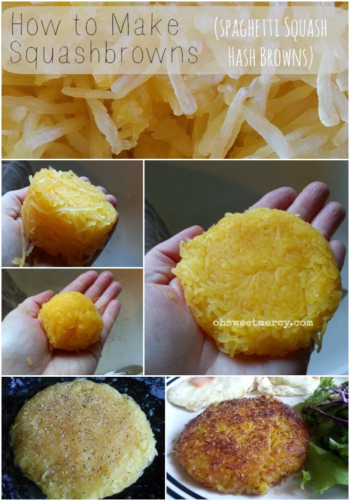 How to Make Squashbrowns - Spaghetti Squash Hash Browns