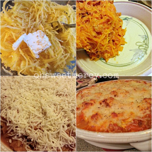 Mock Baked Spaghetti with Spaghetti Squash - Low Carb