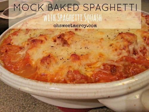 Mock Baked Spaghetti with Spaghetti Squash