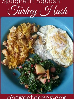 Turkey Hash with Spaghetti Squash – Thanksgiving Leftover Love