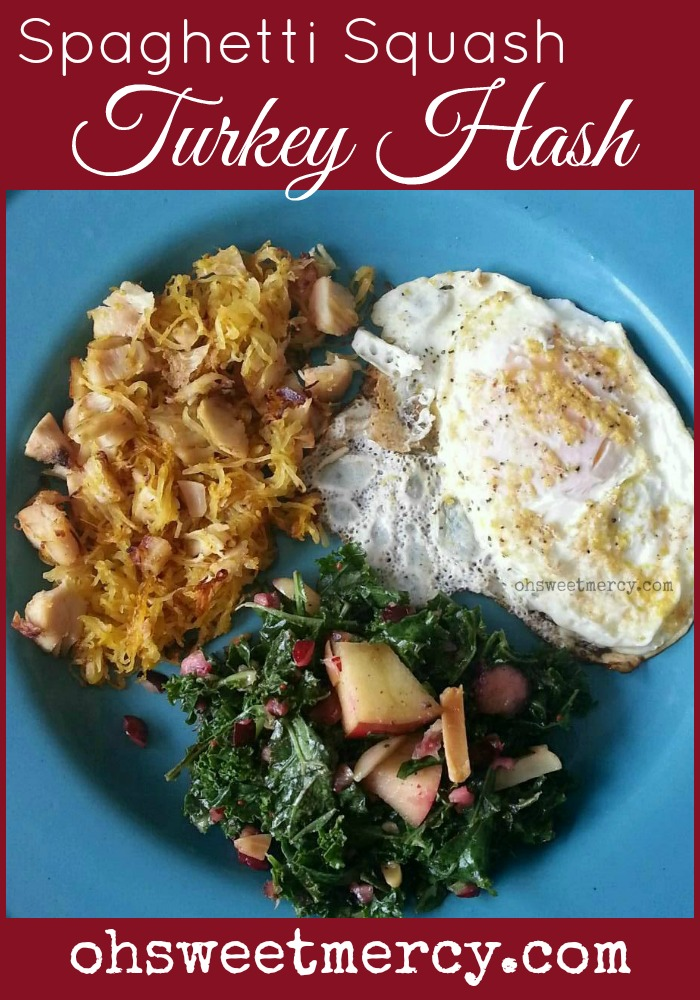 Turkey Hash with Spaghetti Squash - Thanksgiving Leftover Love - Oh ...