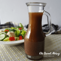 Easy 2-Minute Balsamic Mustard Vinaigrette Dressing | THM S, Keto, Low Carb