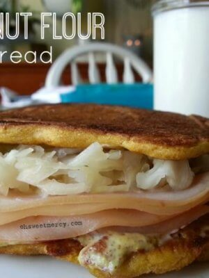 Easy, Low Carb, Gluten Free Coconut Flour Flat Bread
