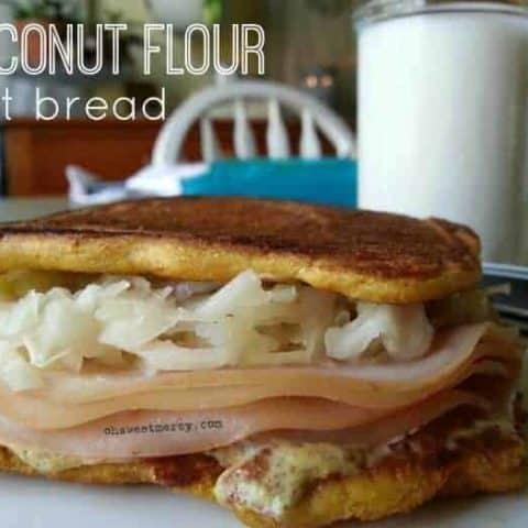 Easy, Low Carb, Gluten Free Coconut Flour Flat Bread