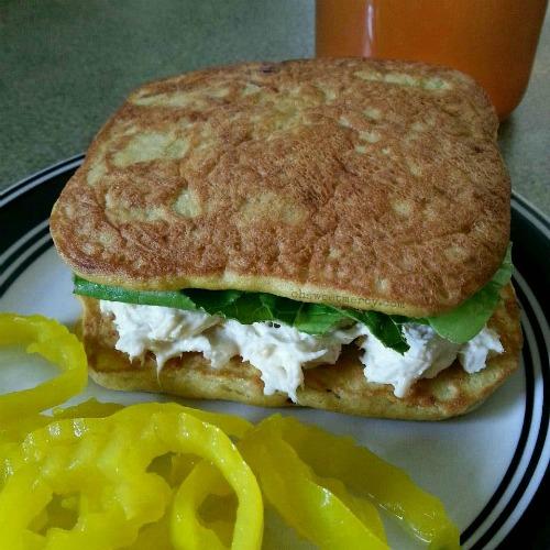 Coconut Flour Flat Bread - Tuna Sandwich