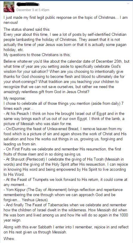 Feasts of YHWH facebook post