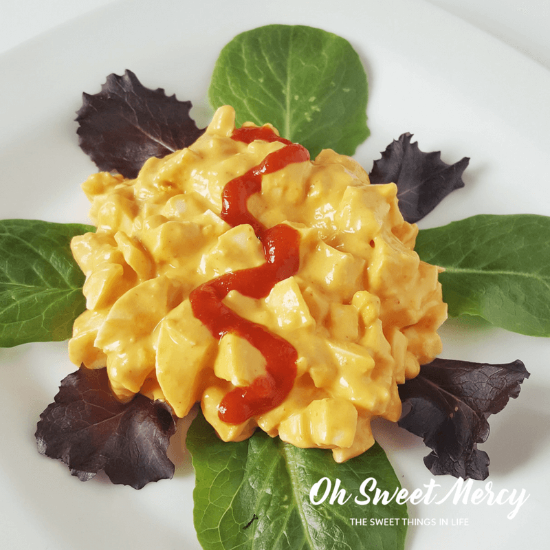 Creamy Low Carb Sriracha Egg Salad makes a perfect lunch or snack for the THM or keto eater.
