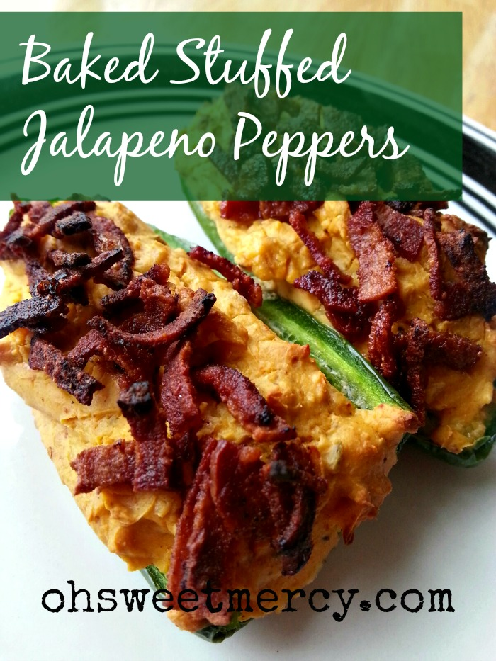 Baked Stuffed Jalapeno Peppers | Oh Sweet Mercy #recipes #THM #jalapenos #ohsweetmercy