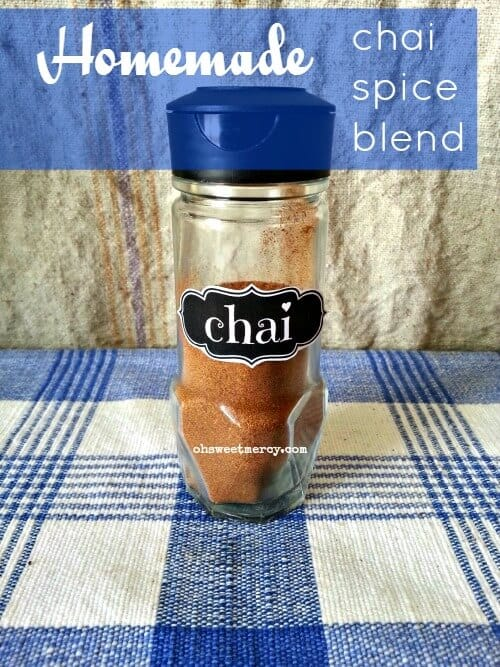 Make this easy Homemade Chai Spice Blend for all your chai desires. No funky ingredients! #DIY #recipes #chai #homemade #chaispice