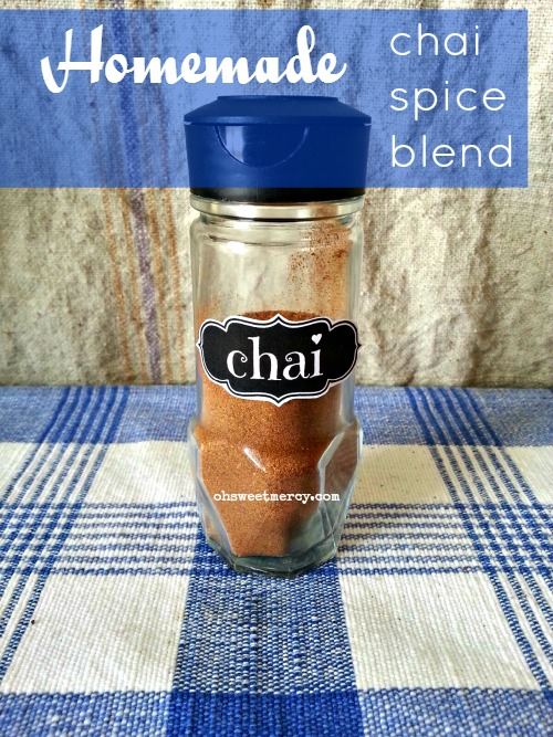 Make your own Chai Spice Blend, save money and avoid unhealthy ingredients! | Oh Sweet Mercy #recipes #makeitmyself #spiceblends #chai #ohsweetmercy