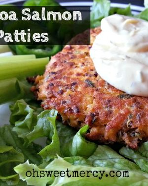 Grain Free Quinoa Salmon Patties
