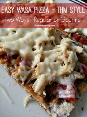 Easy Wasa Pizza Two Ways – THM Style
