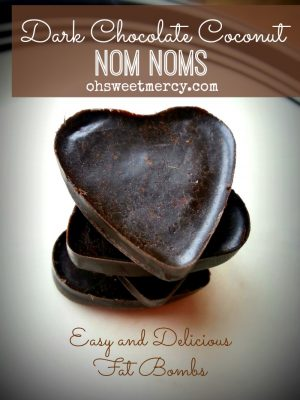 Dark Chocolate Coconut Nom Noms – More Easy Fat Bombs